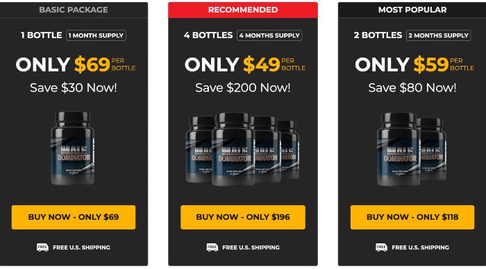 Male Dominator Price